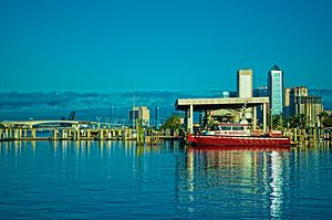 Jake Godbold - The fireboat Jake M. Godbold moored on the St Johns River in Jacksonville.