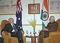 The Leader of Opposition in the Lok Sabha, Shri L.K. Advani calls on the Australian Prime Minister, Mr. John Howard, in New Delhi on March 6, 2006.jpg