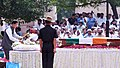 The Minister of State for Defence, Dr. Subhash Ramrao Bhamre laying wreath on the mortal remains of the former Prime Minister, Shri Atal Bihari Vajpayee, at Smriti Sthal, in Delhi on August 17, 2018.JPG