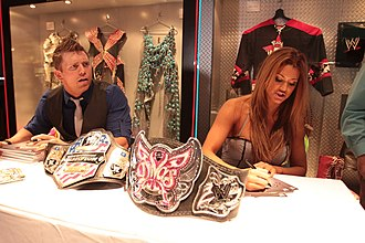 Eve Torres - Torres with The Miz at an autograph signing in 2010