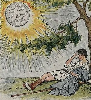 The North Wind and the Sun - The sun persuades the traveler to take off his cloak