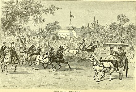 Gentry in the new park, c. 1870 The Pennsylvania railroad- its origin, construction, condition, and connections. Embracing historical, descriptive, and statistical notices of cities, towns, villages, stations, industries, and (14573460329).jpg