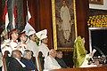 The President of India Smt. Pratibha Patil addressing after the swearing-in ceremony in the central hall of Parliament, in New Delhi on July 25, 2007.jpg