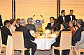 The Prime Minister, Dr. Manmohan Singh and his wife Smt. Gursharan Kaur at a Banquet hosted in their honour, by the Prime Minister of Japan, Mr. Naoto Kan, in Tokyo, Japan on October 25, 2010.jpg