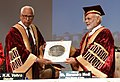 The Prime Minister, Shri Narendra Modi at the Convocation of the Sher-E-Kashmir University of Agricultural Sciences and Technology, in Jammu on May 19, 2018. The Governor of Jammu and Kashmir, Shri N.N. Vohra is also seen.JPG