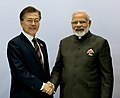 The Prime Minister, Shri Narendra Modi in bilateral meeting with the President of South Korea, Mr. Moon Jae-in, on the sidelines of the 12th G-20 Summit, at Hamburg, Germany on July 08, 2017 (1).jpg