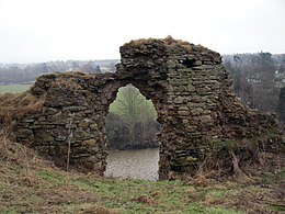 the remains of Roxburgh Castle, seen in 2007