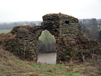 Robert de Umfraville - Part the remains of Roxburgh Castle (in 2007), the focus of so much of Umfraville's career.