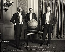 Photograph of Roald Amundsen, Ernest Shackleton and Peary