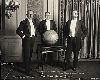 Amundsen, Shackleton and Peary in 1913 The Three Polar Stars, 1913 (8889621500).jpg
