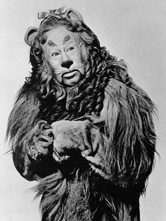 Cowardly Lion - Bert Lahr as the Cowardly Lion for the 1939 film.