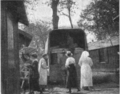 The Woman Citizen 1918 June - Moving into the new barracks of the Women's Oversea Hospitals, furniture brought in by a U.S. Army Camion.png
