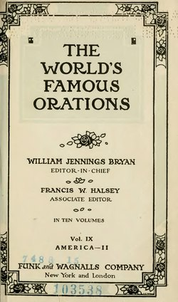 The World's Famous Orations Volume 9.djvu