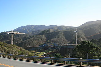 Tom Lantos Tunnels - The construction of the  North Portal Bridges leading to the tunnels, that bypass Devil's Slide