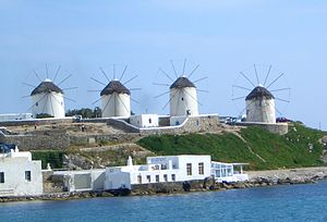 The four windmills in Mykonos.JPG