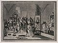 The inside of a jail of the Spanish Inquisition, with a prie Wellcome V0041650.jpg