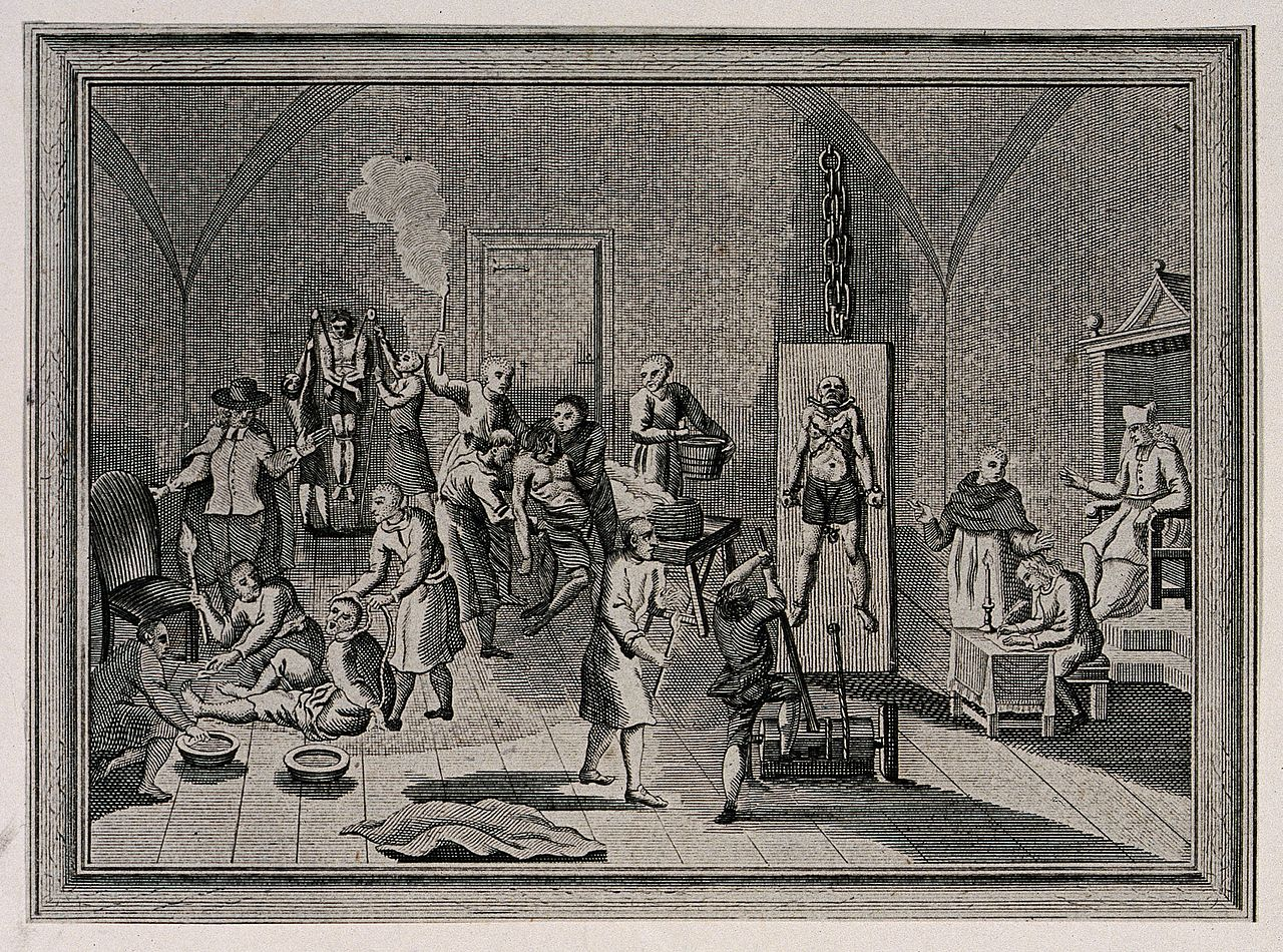 File:The inside of a jail of the Spanish Inquisition, with ...