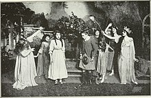 Mary Pickford And Ernest Truex In The 1913 Broadway Production Of A Good Little Devil