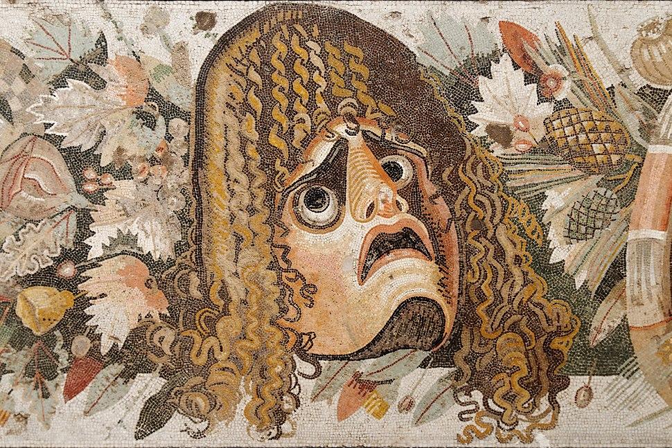 Theatre mask mosaic MAN Napoli Inv9994
