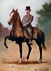 Theodore Roosevelt on horseback