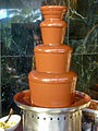 There is something disgusting decadent about this chocolate fountain (8034682310).jpg