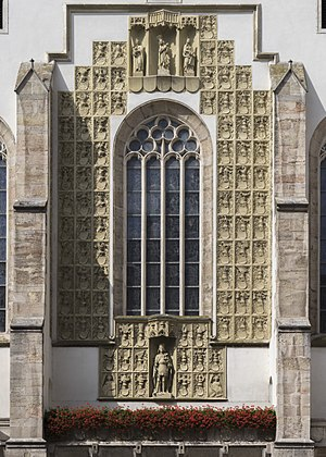 Burg Wiener Neustadt - Wappenwand (Wall of Coats of Arms) of St. George's Cathedral