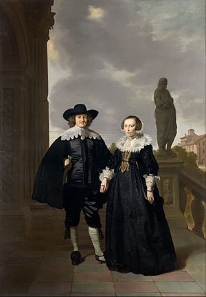 Thomas de Keyser - Thomas de Keyser - Frederick van Velthuysen and his wife, Josina - Google Art Project.jpg