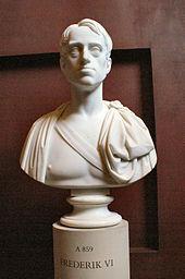 Bust of Frederick VI, modelled by Bertel Thorvaldsen (Source: Wikimedia)
