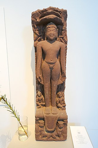 Museum of Far Eastern Antiquities, Stockholm - Image: Tirthankara, Jain sculpture, Mathura, India, 8th century AD, red sandstone Östasiatiska museet, Stockholm DSC09268