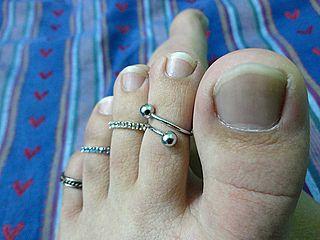 ring worn on any toe