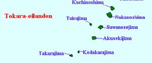 Yokoate-jima - Image: Tokara eilanden