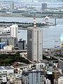 Tokyo Gas building and Harumi Passenger ship terminal from Tokyo Tower (2).jpg