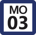 Tokyo Monorail MO-03 station number.png