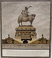 Tomb of Isocrates, Athenian Orator, by Jean-Jacques Lequeu, 1789, pen and black ink, gray and brown wash - Morgan Library & Museum - New York City - DSC06755.jpg