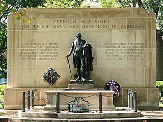 Tomb of the Unknown Revolutionary War Soldier war memorial in Philadelphia, Pennsylvania, United States