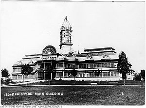 Exhibition Place - South elevation of Crystal Palace, lost to fire in 1906
