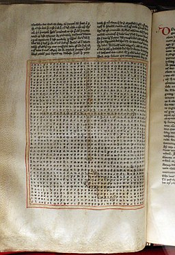 Toscana (forse), rabano mauro, in honorem sanctae crucis, xiii secolo, 02