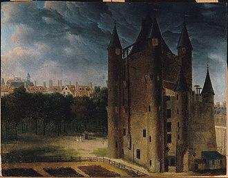 Square du Temple - A view of the Grosse Tour-circa 1795, Ecole Française 18th century.