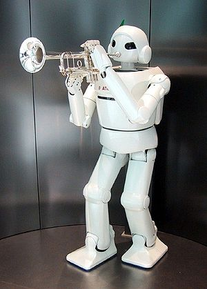 Toyota trumpet-playing robot
