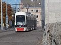 Tram 508 approaching Uelemiste jaam Tram Stop in Tallinn 20 October 2015.jpg