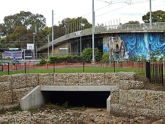 Goodwood railway station - The tram bridge