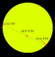 Transit of Mercury May 9 2016 path across sun.png