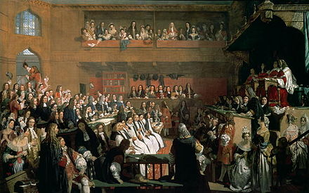 Powys was chief prosecutor at the trial of the Seven Bishops. Trial of the Seven Bishops.jpg