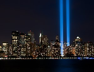 English: Tribute in Light, September 11, 2010.