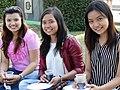 Trio of Young Women - Mahabandoola Gardens - Yangon - Myanmar (Burma) (11773943333).jpg