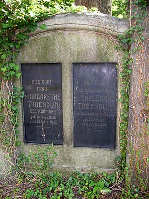 Alter Johannisfriedhof - Gravestone of Carl Bruno Tröndlin, transferred from the Neuer Johannisfriedhof