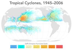 Tropical cyclones 1945 2006 wikicolor