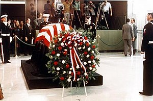Harry S. Truman Presidential Library and Museum - Funeral services in 1972 for Harry Truman—president of the United States 1945—1953. His wife opted for a private service rather than a larger, state funeral in Washington, D.C.