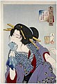 Tsukioka Yoshitoshi - Looking in Pain - a Prostitute of the Kansei Era.jpg