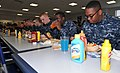 U.S. Navy recruits eat lunch in the galley inside the USS Triton Barracks at Recruit Training Command at Naval Station Great Lakes, Ill. 121031-N-IK959-256.jpg